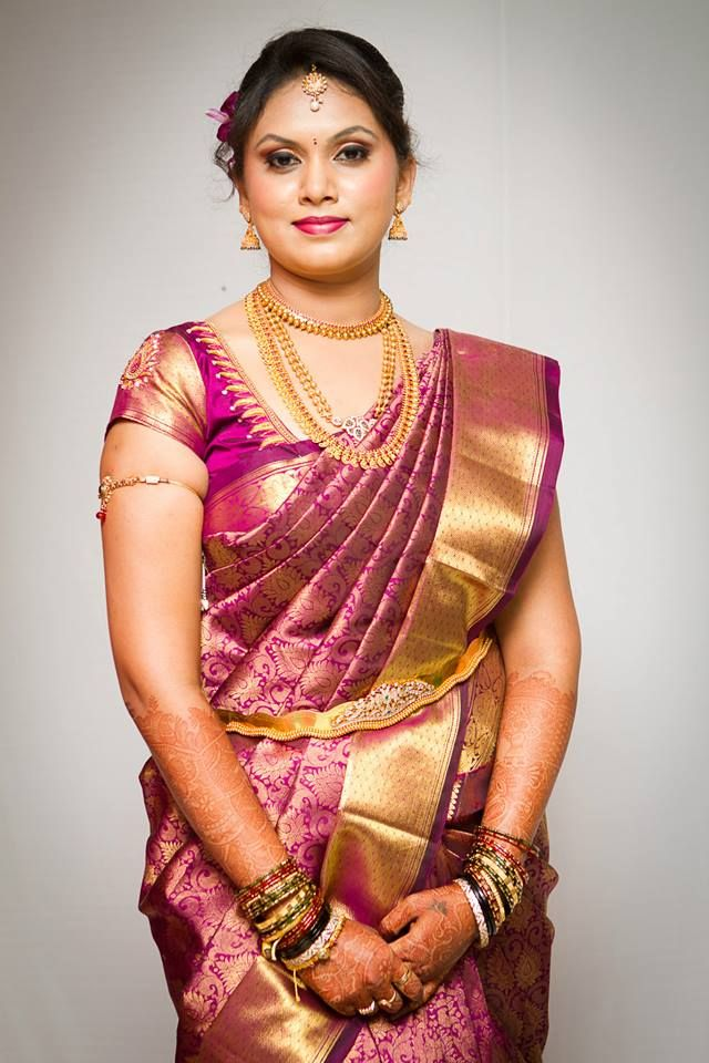 South Indian bride | bridal makeup, saree and jewellery