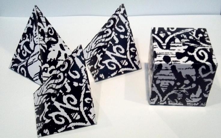 Set of 12 Ancient Chinese Paper Blocks. $20.00, via Etsy.