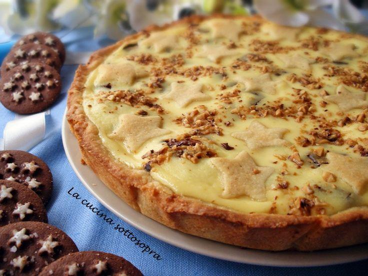 La crostata cuor di Pan di stelle è una golosa crostata,preparata con la frolla di Ernst Knam,Pan di stelle, crema di ricotta e cioccolato alla nocciola.