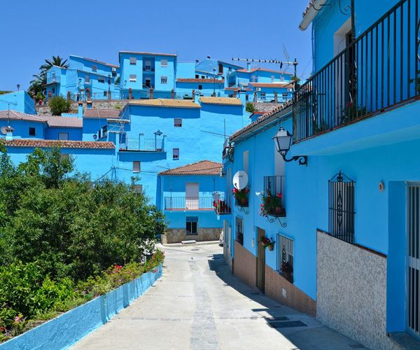 Smurfs Town, Júzcar, Málaga, Spain, A Lovely Romantic Blue Town