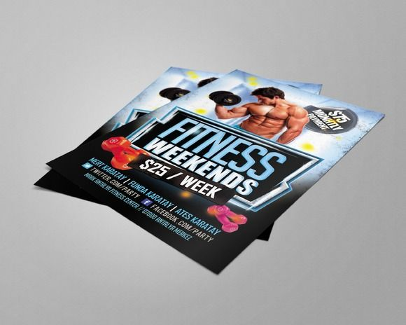 Best Fitness Flyers Images On   Flyers Leaflets And