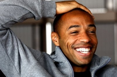 Thierry Henry smiling