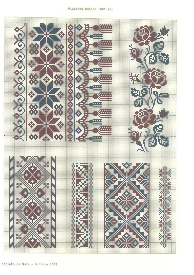 Збірка українських візерунків А.М.Махно Ukrainian cross stitch pattern