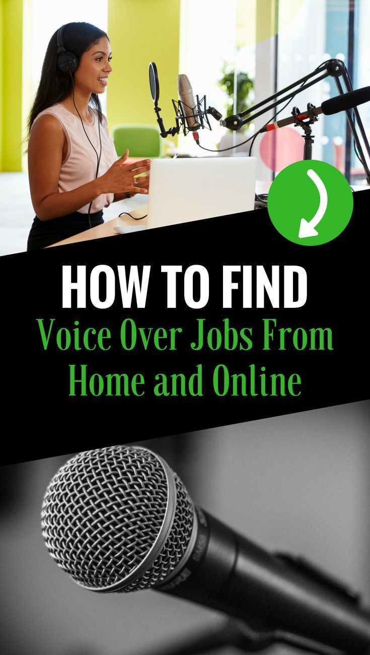 How To Find Voice Over Jobs From Home And Online The Voice Work From Home Jobs Job