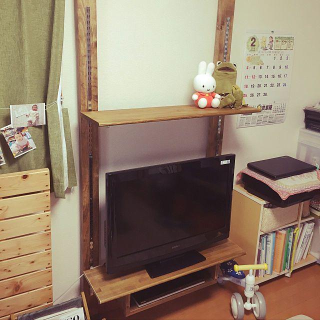 Tomohiroさんのlounge テレビ台 Diy ディアウォール Diyに関する部屋写真 テレビ台 Diy ディアウォール インテリア 実例