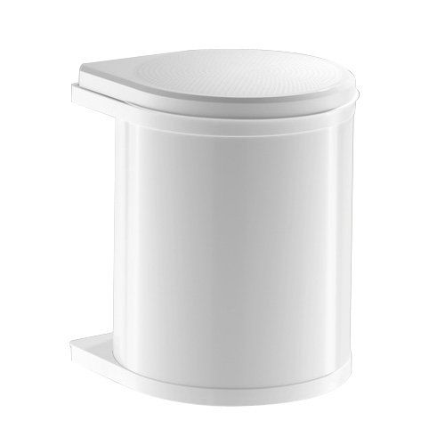 Hailo 3515001 MO Swing 40.1/15 w Mono Abfallsammler schwenkbar mit Klappdeckel, 15 L, weiß