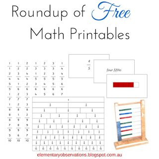 Number Names Worksheets montessori free printable materials : 1000+ images about Montessori Math on Pinterest | Help teaching ...