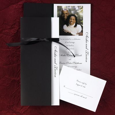 17 Best Images About Black Accented Wedding Invitations On Pinterest Ink Co