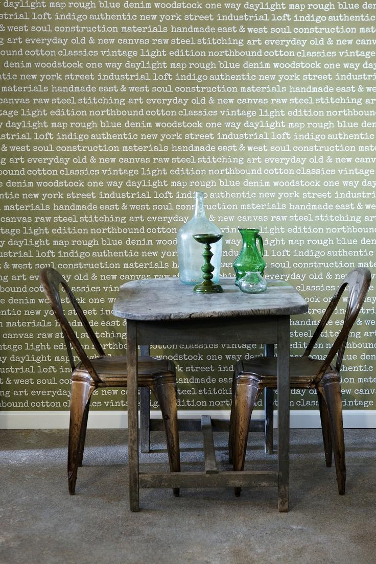 En ny tapet i trendfarget grønt, fra kolleksjonen Denim & Co #Wallpaper