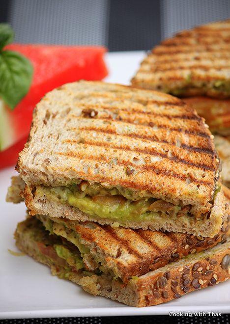 Pesto Chicken Sandwich with Avocado Spread