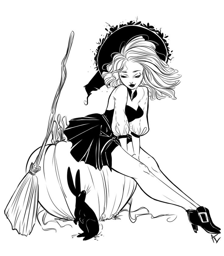 — Some fun little pinups I did for my Witchtacular...