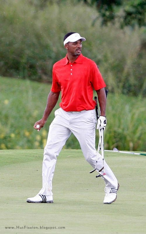 Will Smith playing golf.