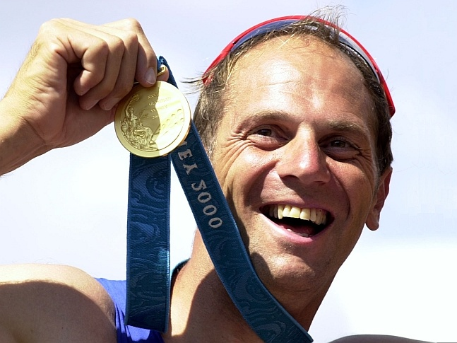 Sir Steven Redgrave (b.1962)... a British rower who won gold medals at five consecutive Olympic Games from 1984 to 2000.  He has Type 1 Diabetes Mellitus.