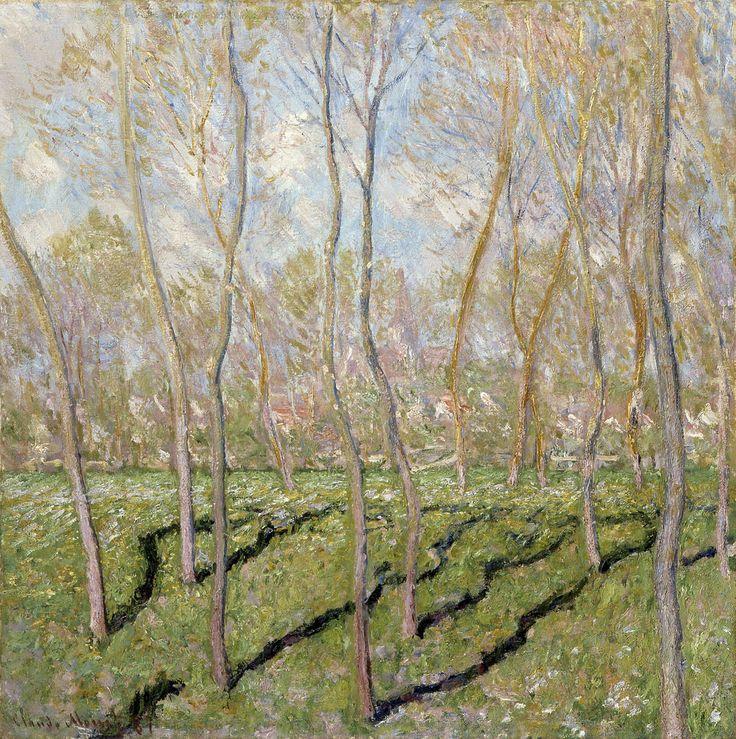 Claude Monet - View of Bennecourt [1887] by Gandalf Via Flickr: [Columbus Museum of Art - Oil on canvas, 81.6 x 81.6 cm]