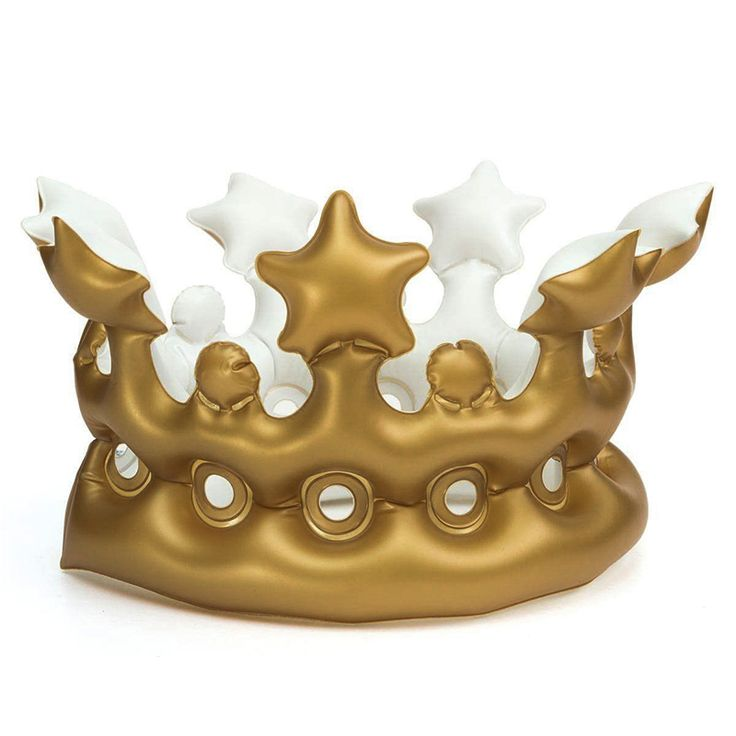20*15cm Inflatable Crown Kids Birthday Party Hats Thicken PVC Inflated CosPlay Tools Stage Props Best Gift for Boys Girls