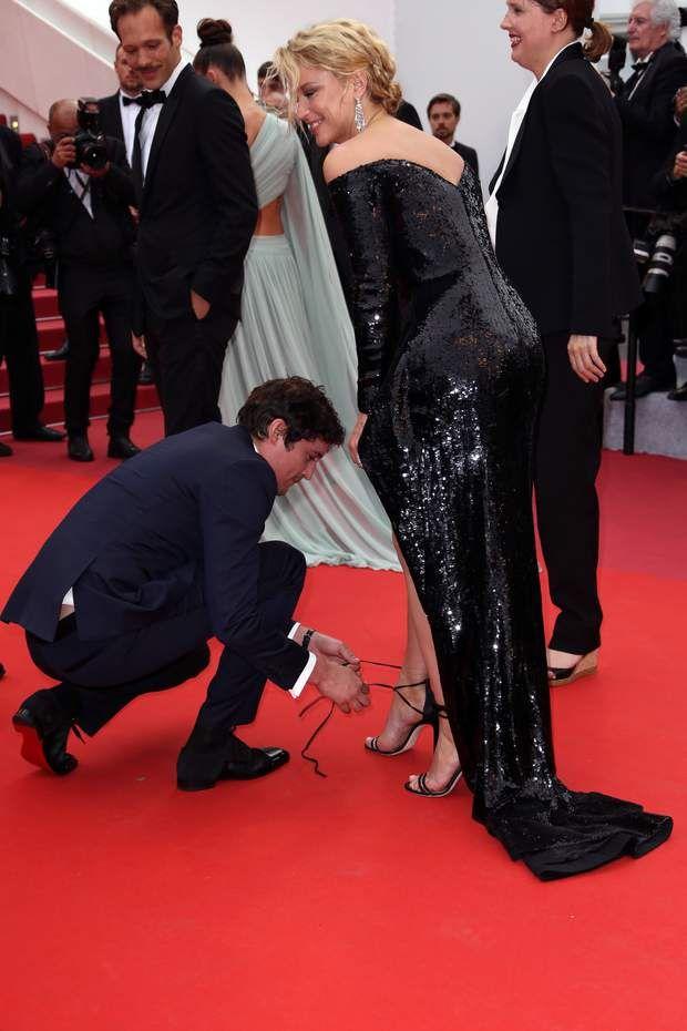 Festival De Cannes 2019 Virginie Efira En Grosse Galere Niels Schneider Vole A Son Secours Virginie Efira Niels Schneider Festival De Cannes