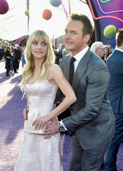 Anna Faris and Chris Pratt at the premiere of Disney and Marvel's 'Guardians Of The Galaxy Vol. 2' at Dolby Theatre on April 19, 2017 in Hollywood, California.
