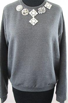 Womens Sweatshirts - Brooch Sweatshirts - Designer Sweatshirts - Designer Womens Sweatshirts - Custom Designer Sweatshirts