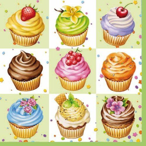 Ambiente Servietten Lunch 33x33cm Cupcakes Square Green 2er Set von Ambiente - Luxury Paper Products, http://www.amazon.de/dp/B00EV026LG/ref=cm_sw_r_pi_dp_eot1sb016VR7W