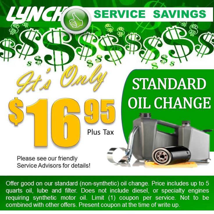 oil change coupons greenville sc