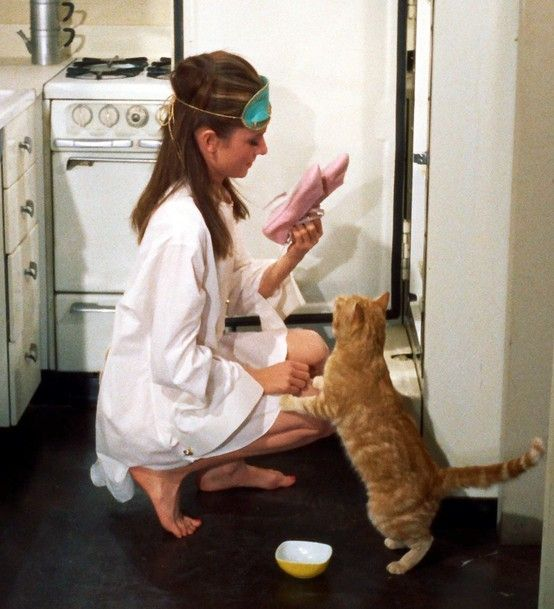 the original crazy cat lady. only audrey can put a positive spin on that role. well done.