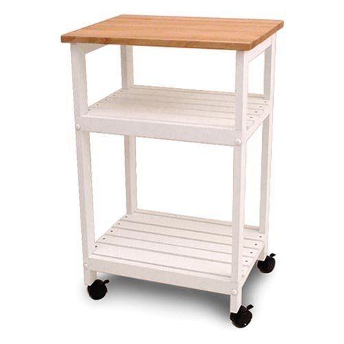 Portable Shelf Storage Kitchen Microwave Cart Cutting Board Table