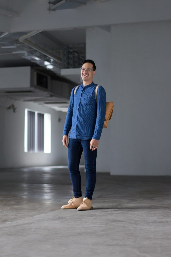 SHENTONISTA: Steadfast. Mark, Creative. Top from Samsøe & Samsøe, Pants from Topman, Bag from Brooks England, Shoes from Clarks, Watch from Timex. #shentonista #theuniform #singapore #fashion #streetystyle #style #ootd #sgootd #ootdsg #wiwt #popular #people #male #female #womenswear #menswear #sgstyle #cbd #SamsoeSamsoe #Topman #BrooksEngland #Clarks #Timex