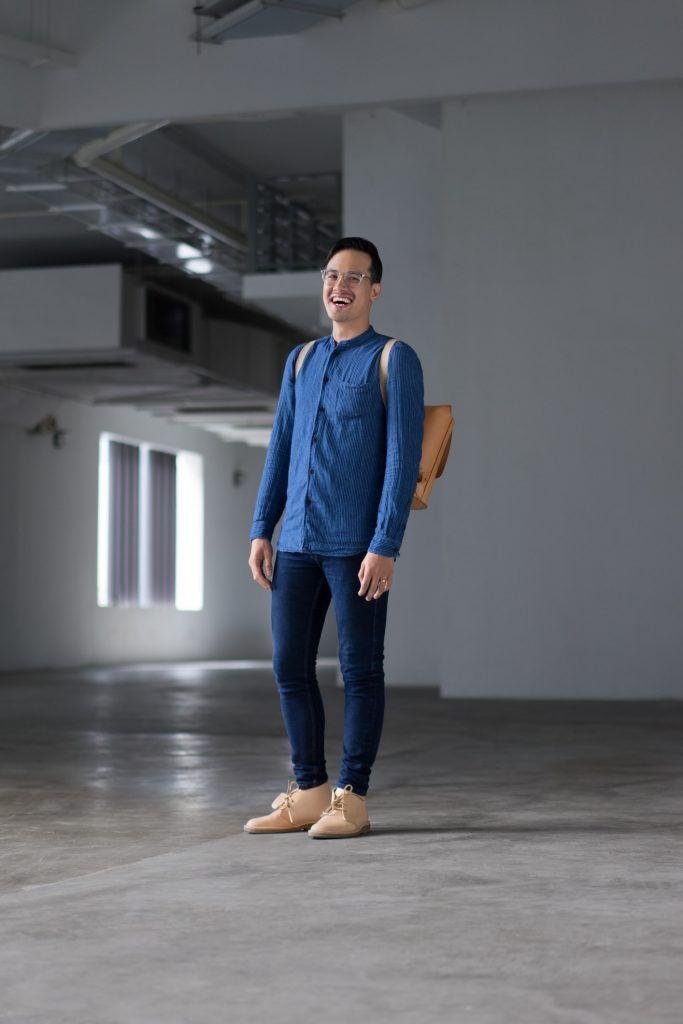 SHENTONISTA: Steadfast. Mark, Creative. Top from Samsøe & Samsøe, Pants from Topman, Bag from Brooks England, Shoes from Clarks, Watch from Timex. #shentonista #theuniform #singapore #fashion #streetystyle #style #ootd #sgootd #ootdsg #wiwt #popular #people #male #female #womenswear #menswear #sgstyle #cbd #SamsoeSamsoe #Topman #BrooksEngland #Clarks #Timex