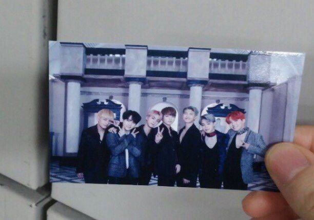 BTS Wings Blood Sweat & Tears latest Official Fan meeting Photo card - Group cut    eBay