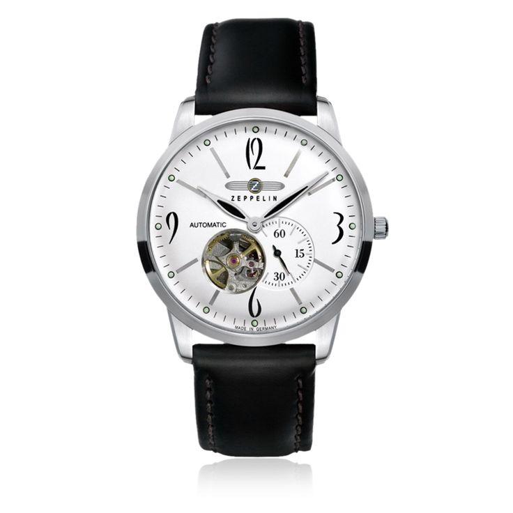 Zeppelin Watches - Flatline Open Heart - Flatline Open Heart. Special case construction and ultra-slim design ...