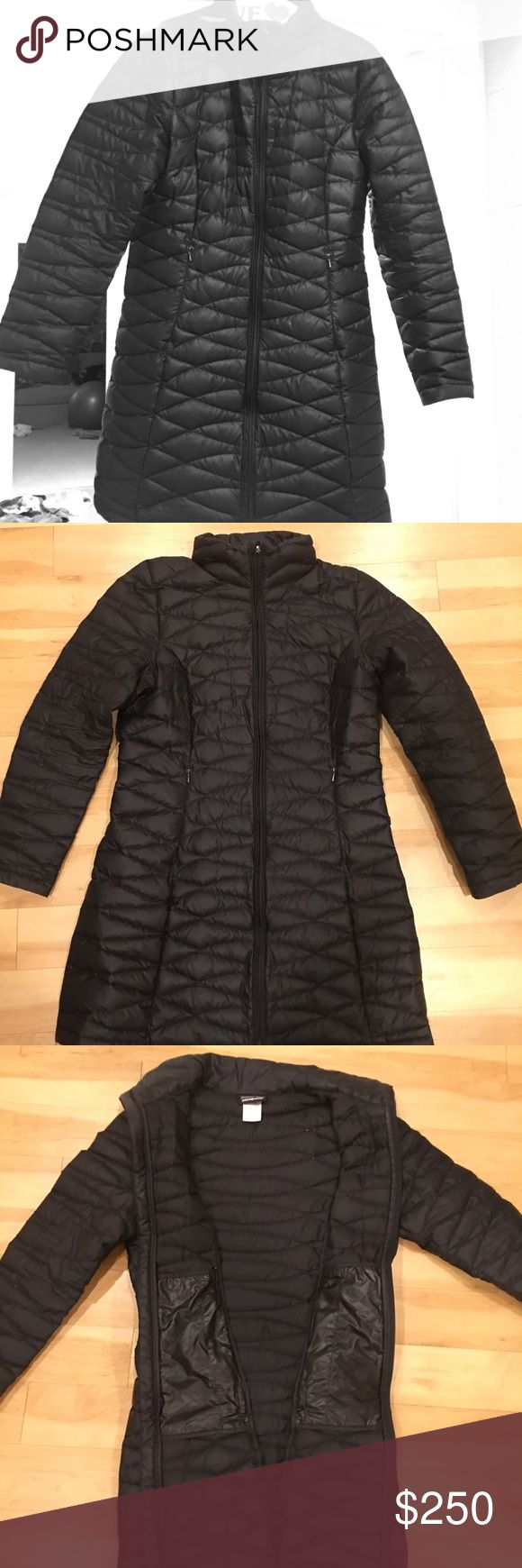 Patagonia winter coat Parka Patagonia Parka, under a year old, gently used and slim fit! Size Large and is in very great condition! Additional Information Feminine, urban and lightweight, this 600-fill-power duck down coat is made of recycled polyester and insulated with Traceable Down. Patagonia Jackets & Coats Puffers