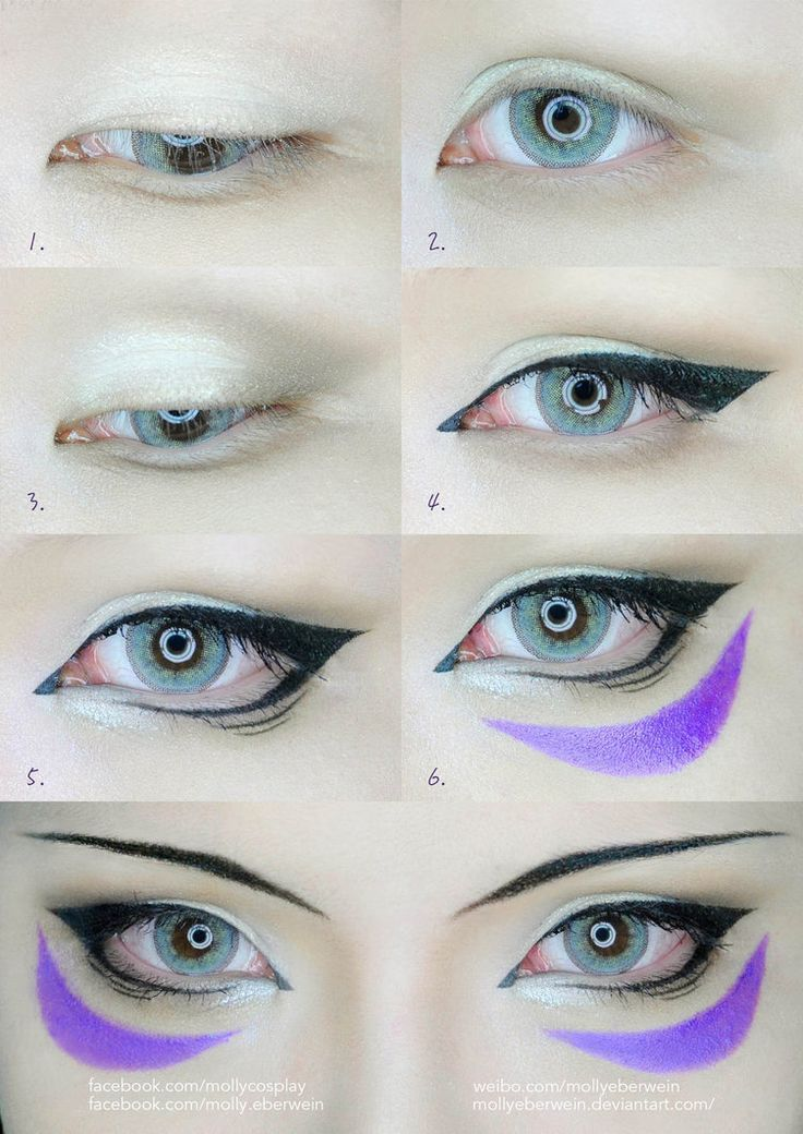 Diy Headband With Waterfall Anime Eye Makeup Cosplay Makeup
