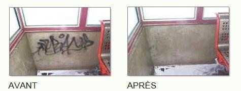 SOLUTION B Un produit anti-graffiti qui agit en efficacité sur toutes les surfaces poreuses (brique, béton, pierre, etc.).