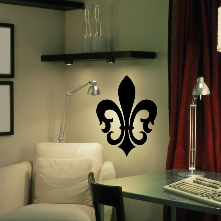 CLING | St. Charles Fleur De Lis | Wall Art, Vinyl Wall Decals | Things For  My Wall | Pinterest | Wall Decals, Walls And Monogram Wall Decals