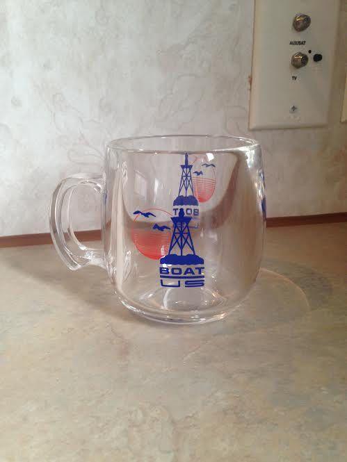 Boat US Clear Coffee Mug #boa #nautical #bouy #bird #marine #coffee #tea
