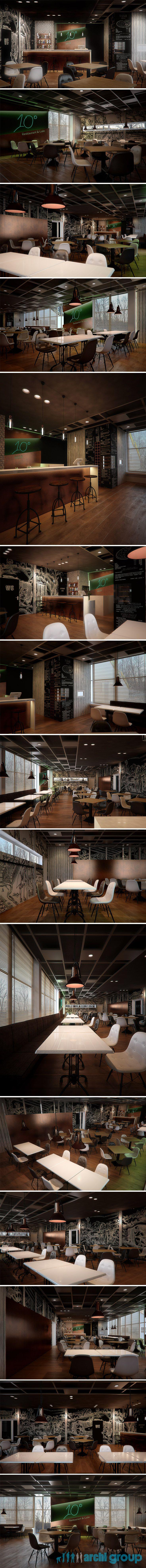 Restaurant design in Tarnowskie Gory POLAND - archi group. Restauracja w Tarnowskich Górach.