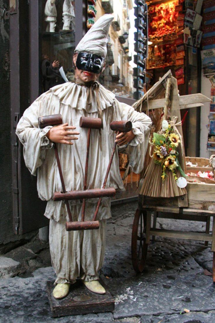 Pulcinella, the mascot of Naples.