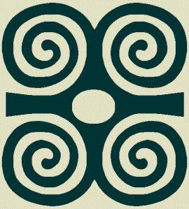 Adinkra symbol for strength