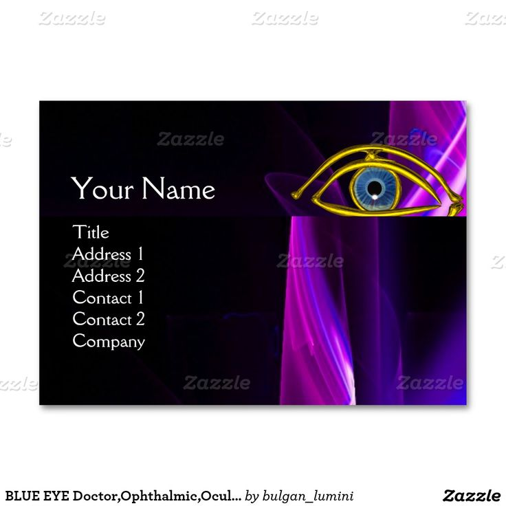 BLUE EYE Doctor,Ophthalmic,Oculist Symbol,Purple Large Business Card