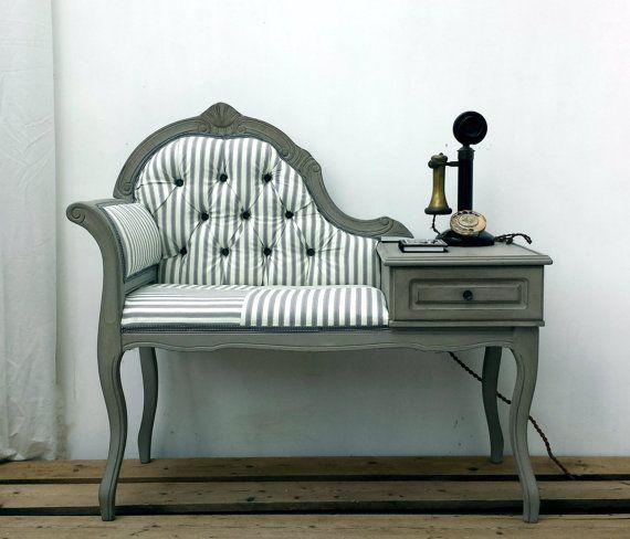Vintage Telephone Hallway Window Seat £220 now sold from  https://www.etsy.com/uk/shop/ArthouseAttic