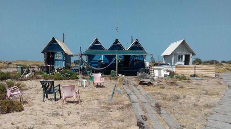 Fisherman Cottages on Ilha Deserta, Faro