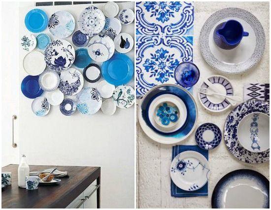 5 awesome ways to use indigo in your home | Trend shake: indigo color 2014 | Delf, tin-glazed indigo pottery