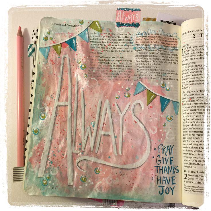 1 Thessalonians 5:16 bible journaling