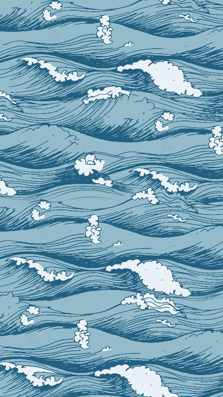 Waves Wallpaper von Gocase – #GoWallpapers – #Go…