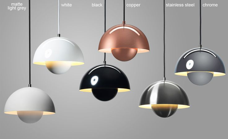 Verner Panton VP1 Flowerpot Suspension Lamp by &tradition distributed by Ameico light gray