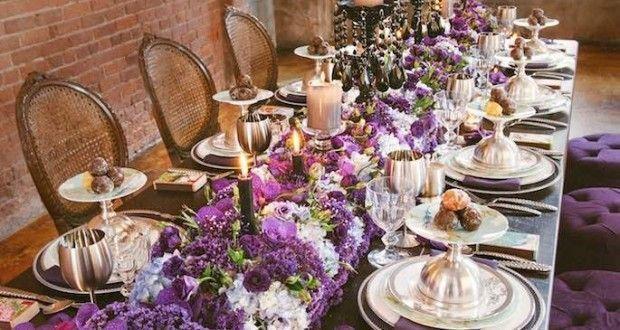 decoración de bodas de color púrpura 1