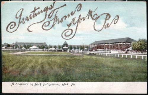 YORK PA Fairgrounds Racetrack Grandstand - 1906