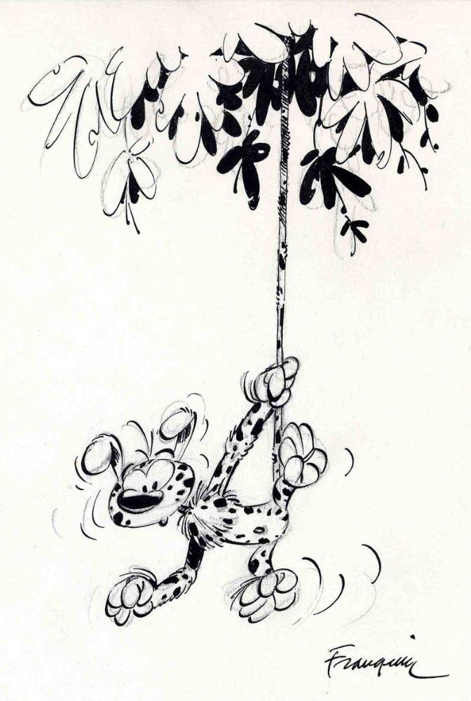andré franquin marsupilami illu Comic Art