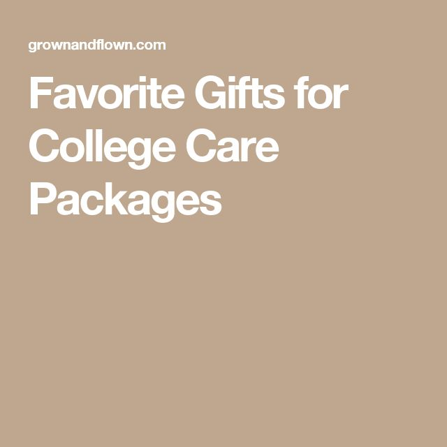 Favorite Gifts for College Care Packages