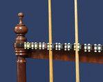 A wall mounted antique Billiard- Snooker cue rack - Billiard Room Ltd